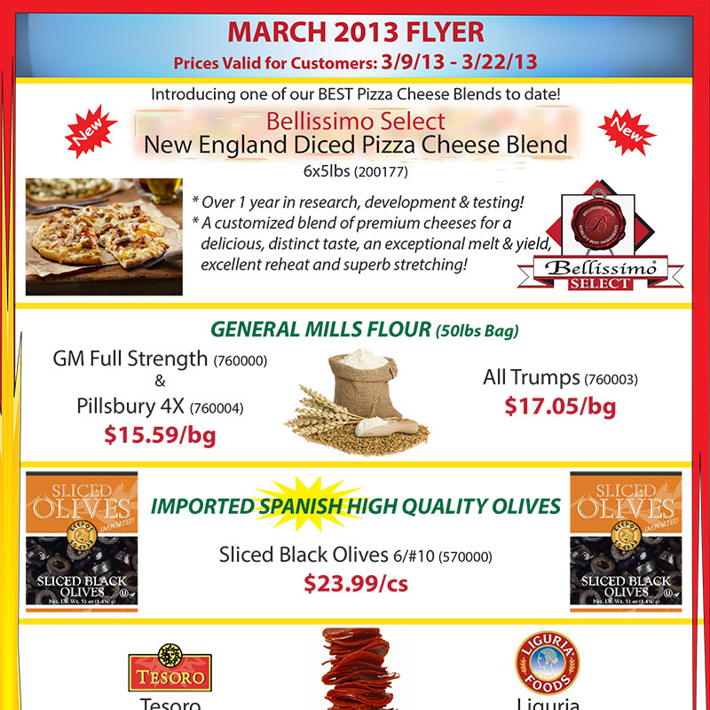 March 2013 Promotions Flyer