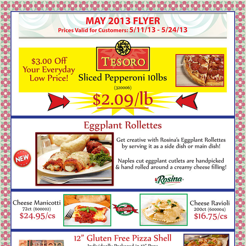 May 2013 Promotions Flyer
