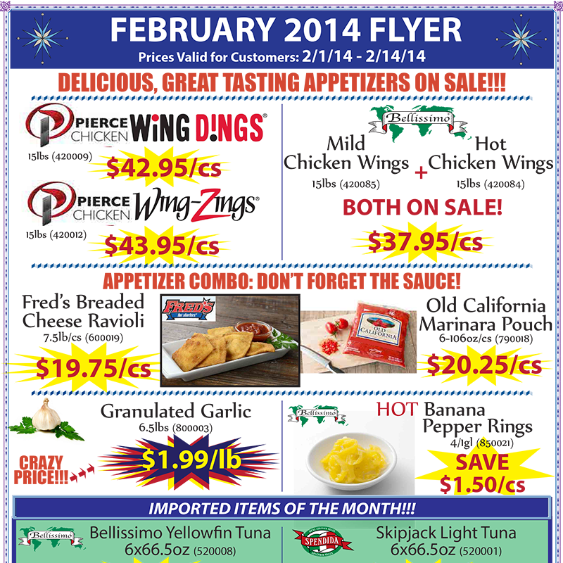 February 2014 Promotions Flyer