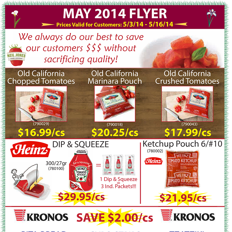 May 2014 Promotions Flyer