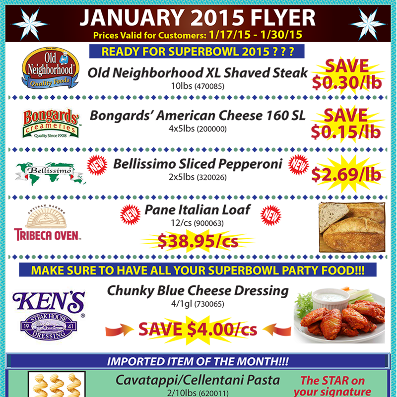 January 2015 Promotions Flyer