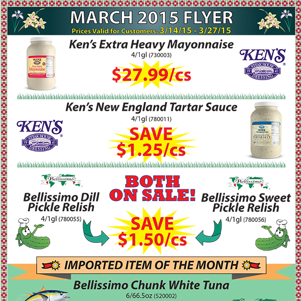 March 2015 Promotions Flyer