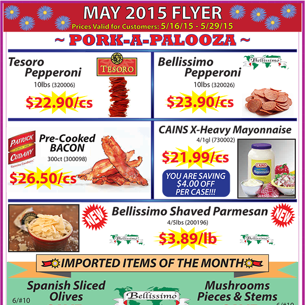 May 2015 Promotions Flyer