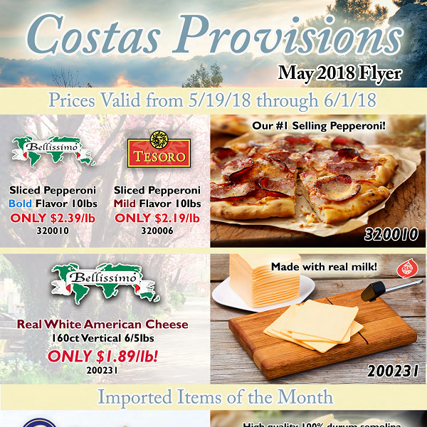 Promotions - Costas Provisions Corp  Boston MA Food Distributor